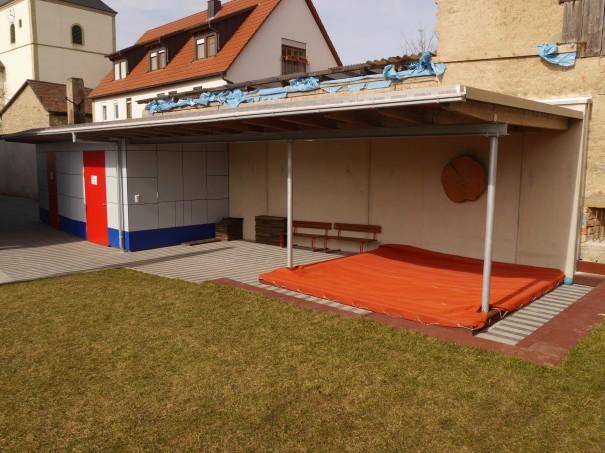 Kindergarten-Gramschatz-Anbau-Schuppen-Frontansicht